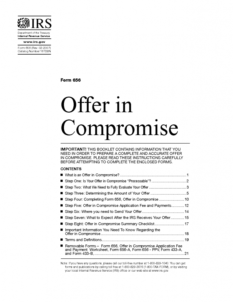 IRS Offer in Compromise